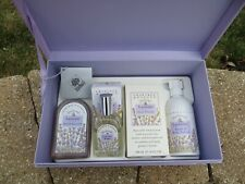 NEW - Crabtree & Evelyn Classic Lavender 5 piece body care set with gift box