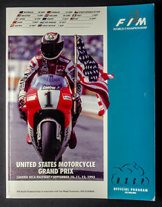 1993 Moto GP Laguna Seca USGP Official Program, Rainey, Doohan, Schwantz