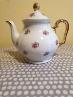 Vintage Minamiyama Seitosho English Rose Porcelain Electric Teapot. Gold Trim