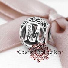 Pandora,S925, Vintage Alphabet Letter M, Bracelet Charm, NEW, 791857CZ
