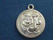 Médaille religieuse St Joseph en métal argenté
