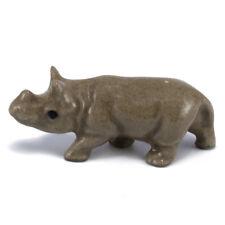 Vintage Hagen Renaker Baby Rhino Rhinoceros #830 Miniature Ceramic Figurine