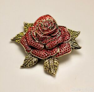 """HEIDI DAUS®""""Ravishing Rose"""" Crystal Flower Pin"""