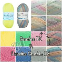 King Cole Beaches + Paradise Beaches DK Summer Acrylic Knitting Wool Yarn 100g