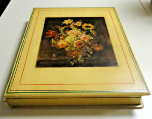 Vintage Old Photo / Picture Album / Scrapbook Wooden / Wood Hinged Storage Box