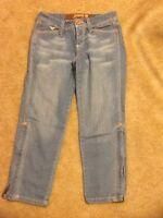 Juniors Grane Denim Blue Jean Capris Size 3