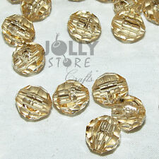 8mm Champagne Faceted Acrylic Beads 500 piece bag