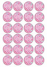 24 Edible Princess Wafer Rice Paper Topper For Cupcake Fairy Cake