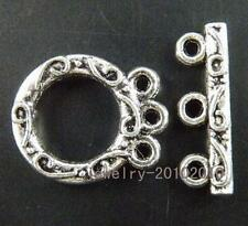 10sets Tibetan Silver  Nice 3-holes Toggle Clasps 18.5x15.5mm 8995