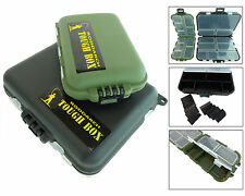 SMALL FISHING TACKLE BOX SET LURES SPINNERS HOOKS FISHING FLIES BOX SWIVEL CLIP