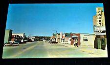 Cool 1960's Main Street, Cook, Crane Lake Area, Minnesota Vintage Postcard