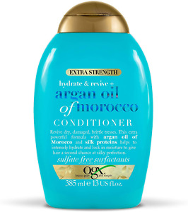 OGX Argan Oil of Morocco Conditioner for Dry Damaged Hair, Extra Strength, 385ml