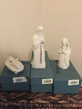 Lenox China Jewels Nativity Holy Family Jesus Mary Joseph Made in Usa Teal Boxes