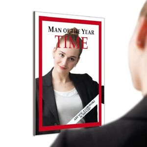 TIME MAGAZINE Cover Mirror Man of the Year Hanging Mirror Bedroom Home Décor