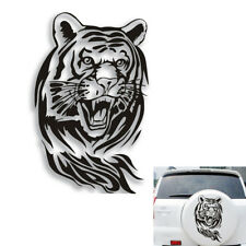 60CM Creative Personality Tiger Reflective Car Hood Spare Decals Stickers Black