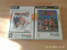 worms 3d & worms united     new&sealed