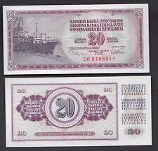 BANCONOTA BANKNOTE YUGOSLAVIA 20 DINARA 1974 FIOR DI STAMPA UNCIRCULATED