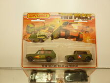 MATCHBOX TP-12 RANGE ROVER POLICE + FIELD CAR - ARMY - UNOPENED CARD BLISTER