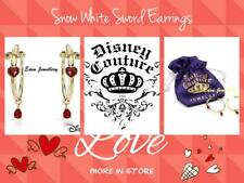 EXTREMELY RARE Disney Couture Snow White Sword Heart Swarovski Crystal Earrings