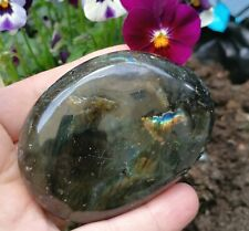 Stunning Labradorite Gemstone Pebble, Bursting With Colour