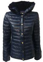 PENNYBLACK down jacket short woman blue sleeves detachable mod APSE 100%