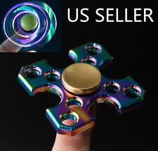 Cross Alloy Hand Finger Spinner Fidget Desk Focus Toy 3D EDC Rainbow