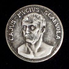 MEDAGLIA - CAJUS MUCIUS SCAEVOLA - LE GRANDI FIGURE DI ROMA - 1980