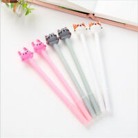 2 Pcs/Set Cute Cat Gel Pen Black Ink Writing Pens Kawaii Stationery Kids Gifts