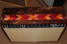64 65 Deluxe Reverb Amp Cabinet Canary Walnut Custom Built  Fender Wheat Grill