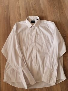 "Mens White Formal Shirt , Peter England , 19"" Double Cuff"
