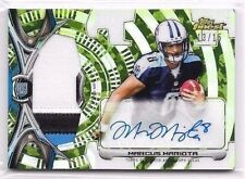 Marcus Mariota 2015 Topps Finest Camo Refractor Auto Autograph Jersey Patch /15