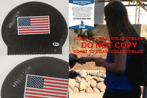 Missy Franklin Cal Olympic gold swimmer signed USA swim cap proof Beckett COA