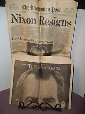WASHINGTON POST Newspaper Rare Cover NIXON RESIGNS August 9 1974 Nixon Years