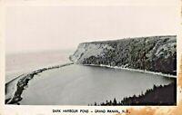 GRAND MANAN NEW BRUNSWICK CA~ HARBOUR POND~1940-50s REAL PHOTO POSTCARD