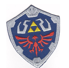 1 x Hylian Master Shield Legend of Zelda Game Embroidered Patch Iron Sew On