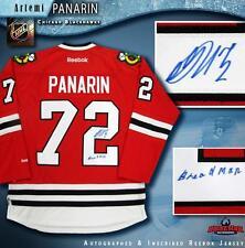 "Artemi Panarin Signed Chicago Blackhawks Red Reebok Jersey  ""BREADMAN"""