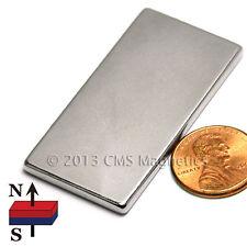 "CMS Magnetics® Strong N45 Neodymium Rectangle Magnet 2""x 1""x 1/8"" 10-pc"