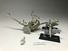 Warhammer Orcs and Goblins - Chieftain Grom War Chariot - Bare Metal OOP