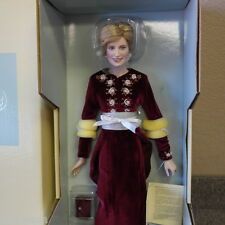 Franklin Mint Princess Diana Doll Porcelain Princess Of Loveliness COA