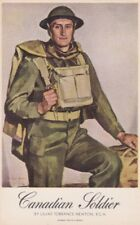 Artist Signed LILIAS TORRANCE NEWTON -- Canadian Soldier, postcard