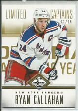 12-13 Limited Captains Gold Parallel Ryan Callahan 1/25 #169 Rangers