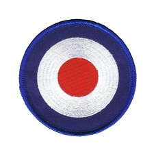 "3"" Mod Target Patch RAF Roundel British Modernist London Stye Iron-On Applique"
