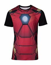 Bioworld EU Mens Marvel Comics Iron Man Suit Sublimation T-Shirt, Red Red Red
