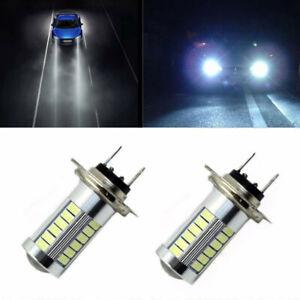 H7 5630 SMD 33 LED 12V High Bright White Auto Car Fog Driving Light Lamp Bulb ac