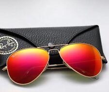 Ray Ban Sunglasses RB3025 112/69 Gold/Flash Orange Lens 58mm ITALY!