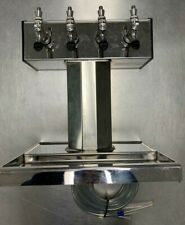 Refurbished Glastender Bt-4-Mf 4-Faucet Mirror Finish Air Cooled Tee Tower