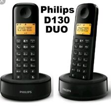 PHILIPS DOUBLE CORDLESS DECT PHONE D130 DUO  new boxed