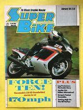 SUPER BIKE - February 1988 - Aprilia 125 F1 Project 108 - Harley Davidson