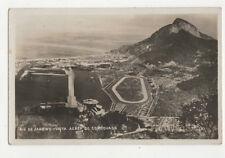 Rio De Janeiro Brazil Vista Aerea Do Corcovado Vintage RPPC Postcard US020