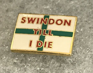 Very Rare & Collectable Swindon Town Supporter Enamel Pin Badge Wear With Pride